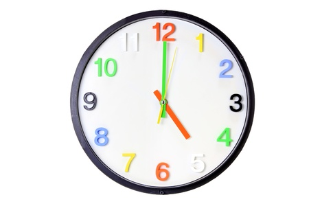 Wall Clock on White Background photo