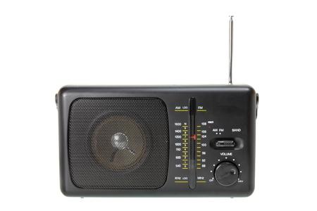 transistor: Transistor de radio en el fondo blanco