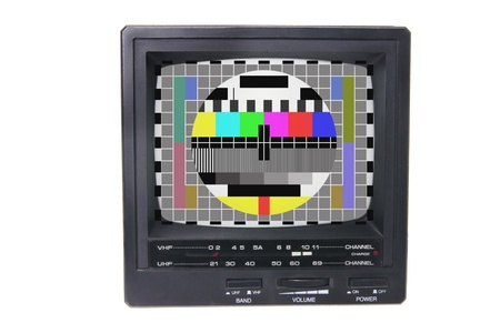 programmes: Portable TV on White Background