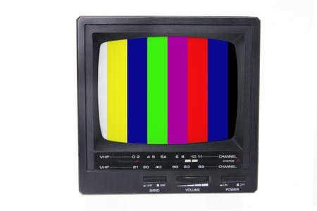 Portable TV on White Background photo