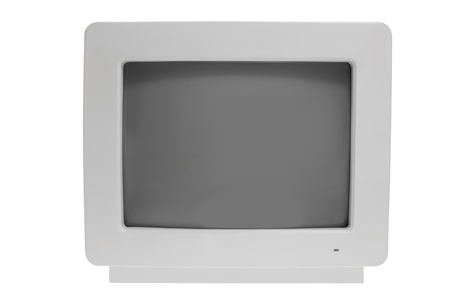 Old Computer Monitor on White Background photo