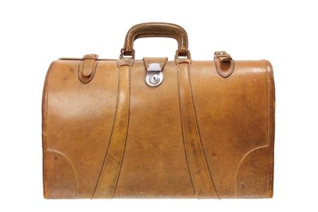 Old Luggage on White Background Stock Photo - 14642109
