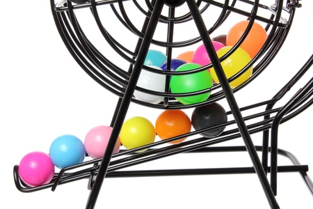 Close Up of Bingo Game Cage