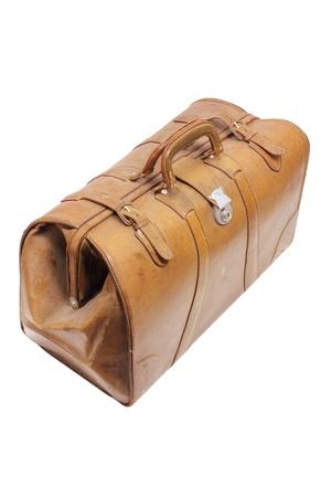 Old Luggage on White Background Stock Photo - 14717000