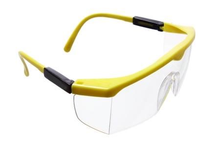 safety glass: Safety Eye Shield on White Background