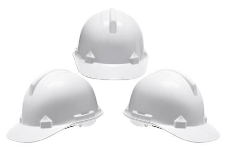 hard hats: Hard Hats on White Background