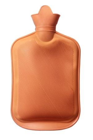 Hot Water Bottle on White Background Stock Photo