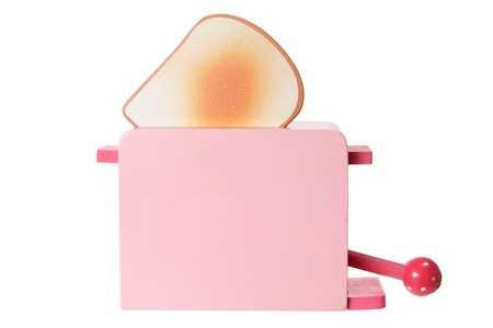 Toy Wooden Toaster on White Background Stock Photo - 14794007