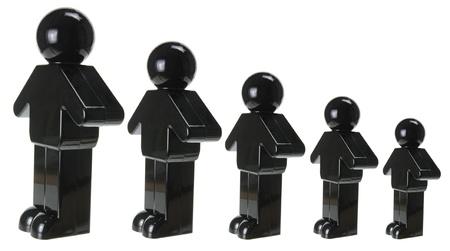 crowdsource: Plastic Figure on White Background