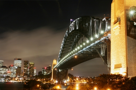 Sydney Harbor Bridge at Dusk photo