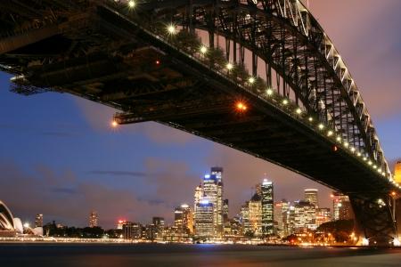 Sydney Harbor Bridge at Dusk photo