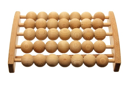 Wooden Feet Massager on White Background photo