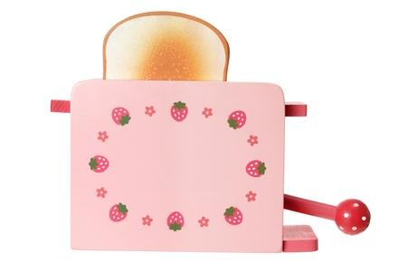 Wooden Toy Toaster on White Background Stock Photo - 15142927