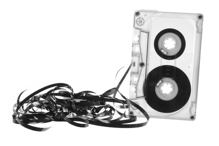Cassette Tape on White Background photo