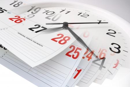 organise: Compuesto de p�ginas Calendario y Reloj
