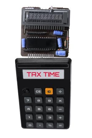 Broken Calculator on White Background Stock Photo - 15308703