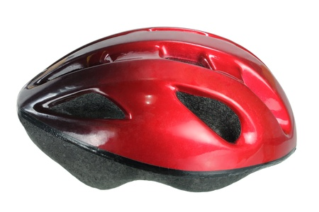 headgear: Bicycle Helmet on White Background