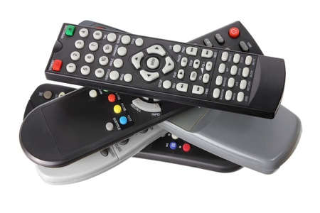 controls: Remote Controls on White Background