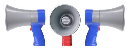 loud speakers: Loud Speakers on White Background