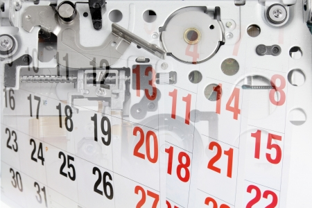 Composite of Calendar and Electronic Device Stock Photo - 15409172