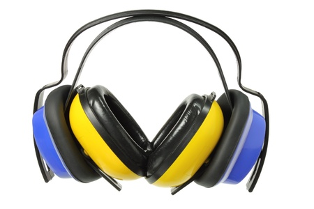 industrial noise: Earmuffs on White Background