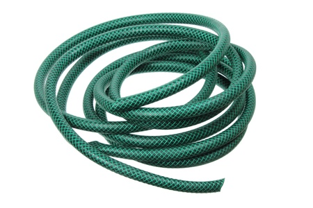 Garden Hose on White Background  photo