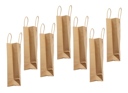 Paper Bags on White Background Stock Photo - 15759885