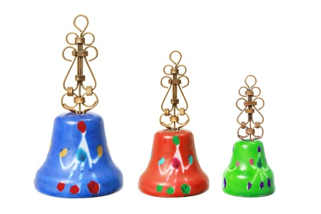 knell: Christmas Bells on White Background Stock Photo