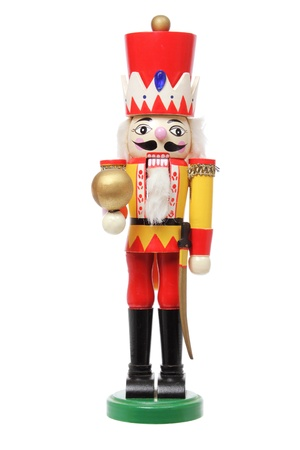 Christmas Nutcracker on White Background photo