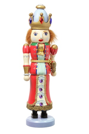 Christmas Nutcracker on White Background Banque d'images