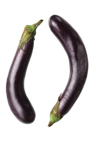 Aubergine on White Background Stock Photo - 15822084
