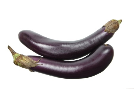 Aubergine on White Background Stock Photo - 15822109