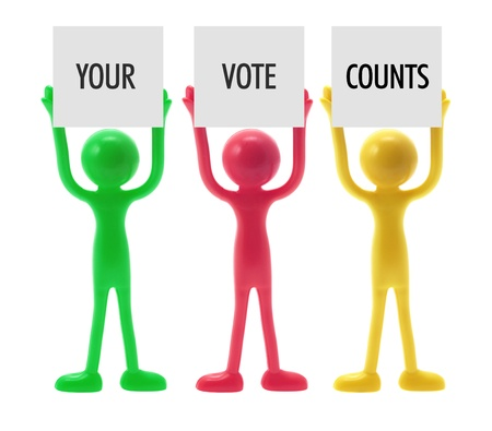 Voting Concept with Miniature Figures photo