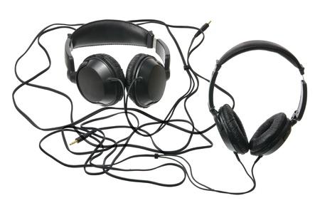 audifonos: Aud�fonos en el fondo blanco
