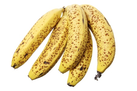 spotty: Bunch of Banana on White Background