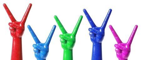 Toy Hands on White Background Stock Photo - 16261038