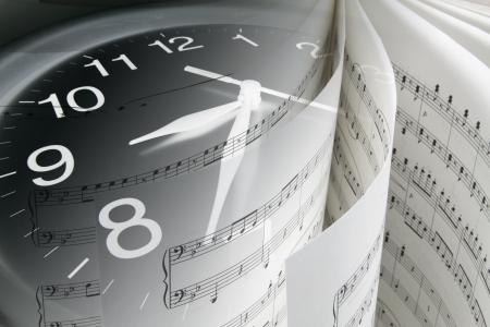 partition musique: Composite Score de Musique et de l'horloge