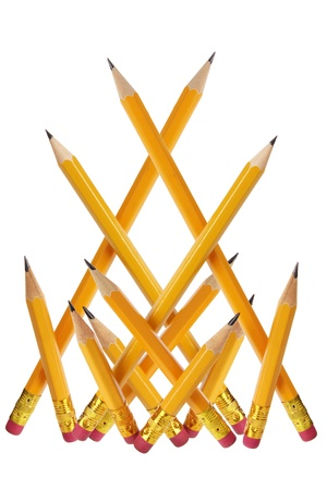 Pencils on White Background Stock Photo - 16261105