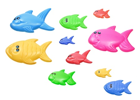 Toy Fishes on White Background Stock Photo - 16437406