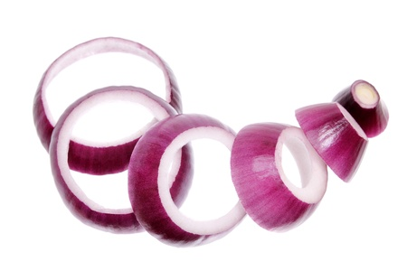 Red Onion on White Background photo