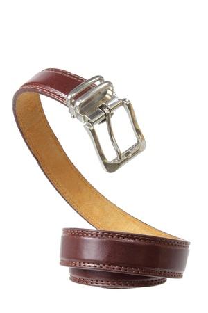 waist belt: Ladys Belt on White Background Stock Photo