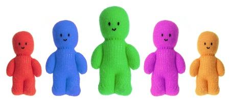 Soft Toy Dolls on White Background Stock Photo - 16761043