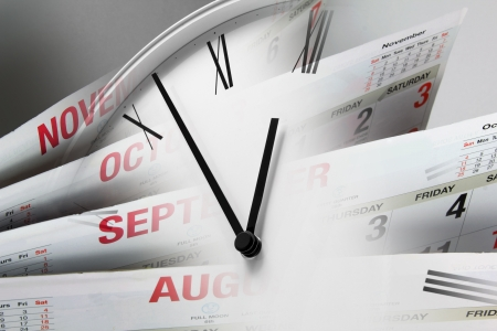 page down: Composite of Clock Face and Calendars