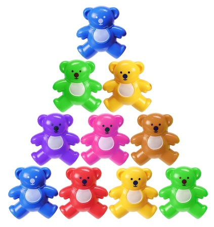 Teddy Bears on White Background photo