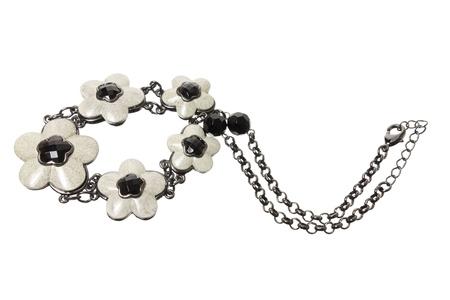 Necklaces on White Background Stock Photo - 17344099