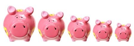 piggybanks: Piggybanks on White Background