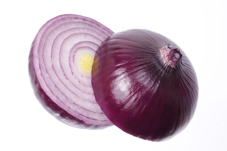 red onion: Red Onion on Isolated Background