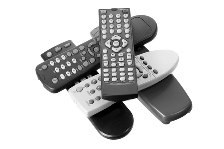 remote controls: Remote Controls on White Background