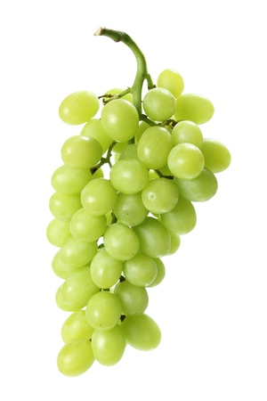 seedless: Bunch of Grapes on White Background