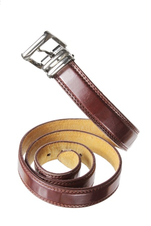 waist belt: Waist Belt on White Background Stock Photo